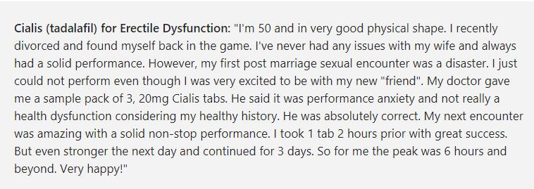 Cialis Reviews
