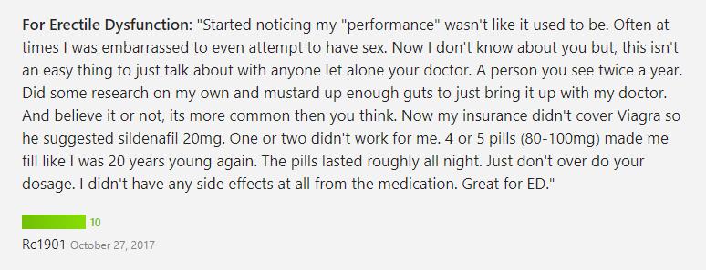 Viagra consumer testimonial