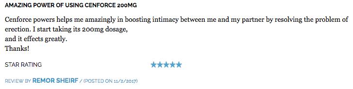 Cenforce-200 Reviews