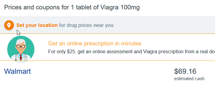 Viagra 100 mg Walmart Price