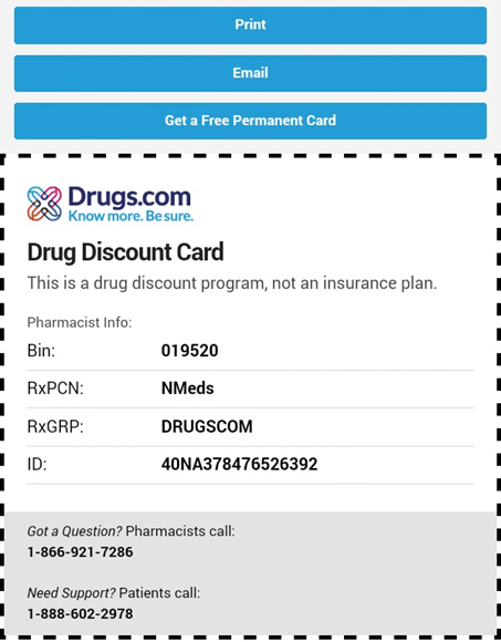 Drug Discount Card